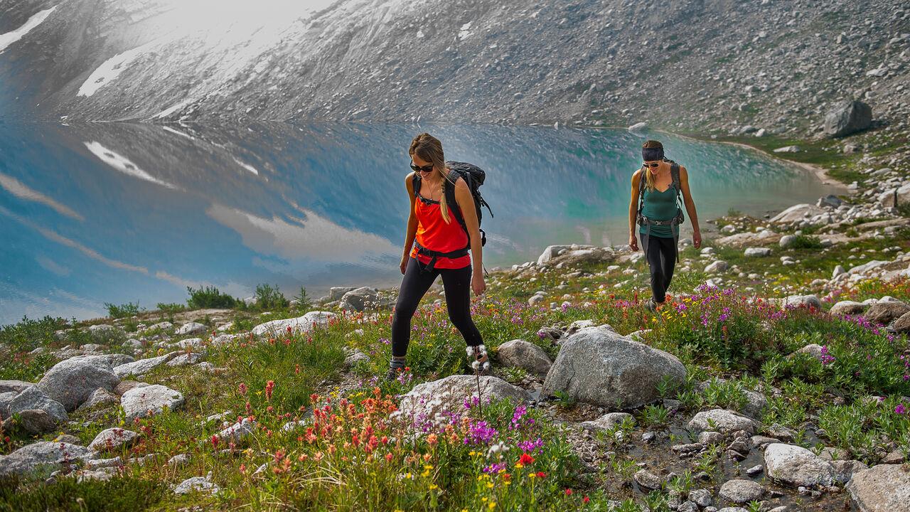 Heli-hiking in the Bugaboos, British Columbia