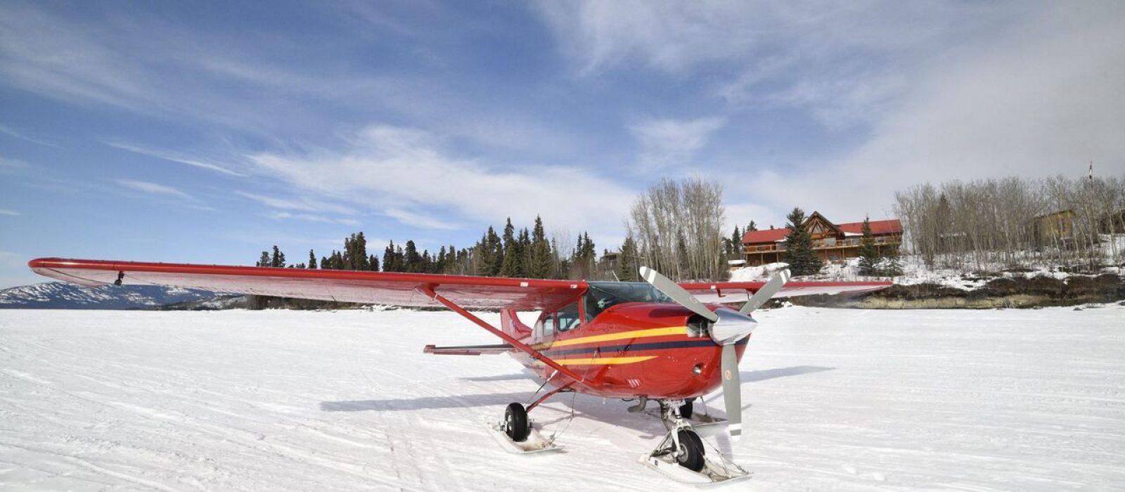 Flight tour at the Inn on the Lake, Yukon