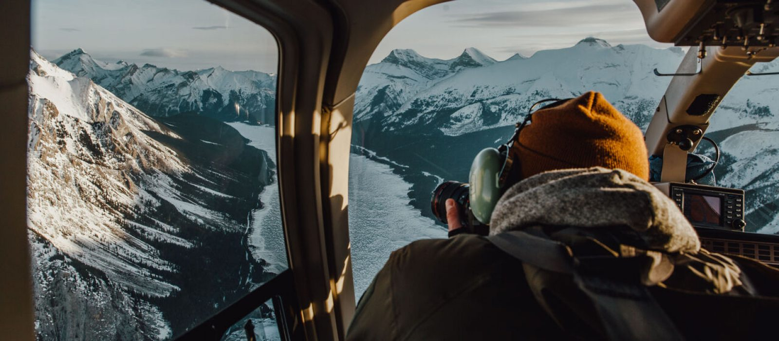 Helicopter tour over the Canadian Rockies.